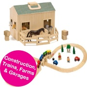 Construction, Trains, Farms & Garages
