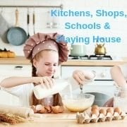 Kitchens, Shops, Schools & Playing House