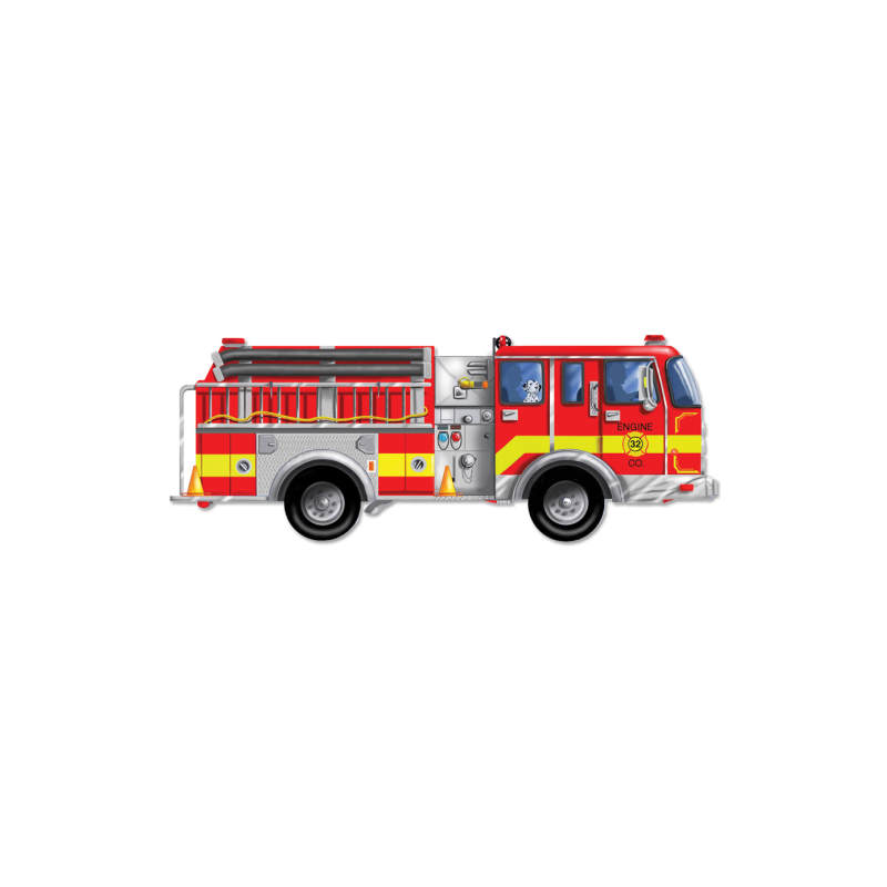 Giant Fire Engine Floor Puzzle 24 Pc From Learning