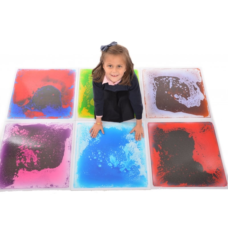 Large Liquid Filled Sensory Floor Tile - Pack of 6*
