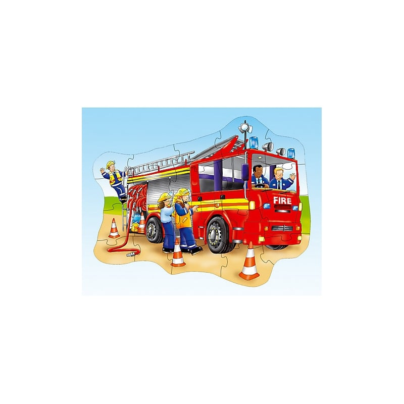 Big Fire Engine 20 Piece Shaped Floor Jigsaw Puzzle