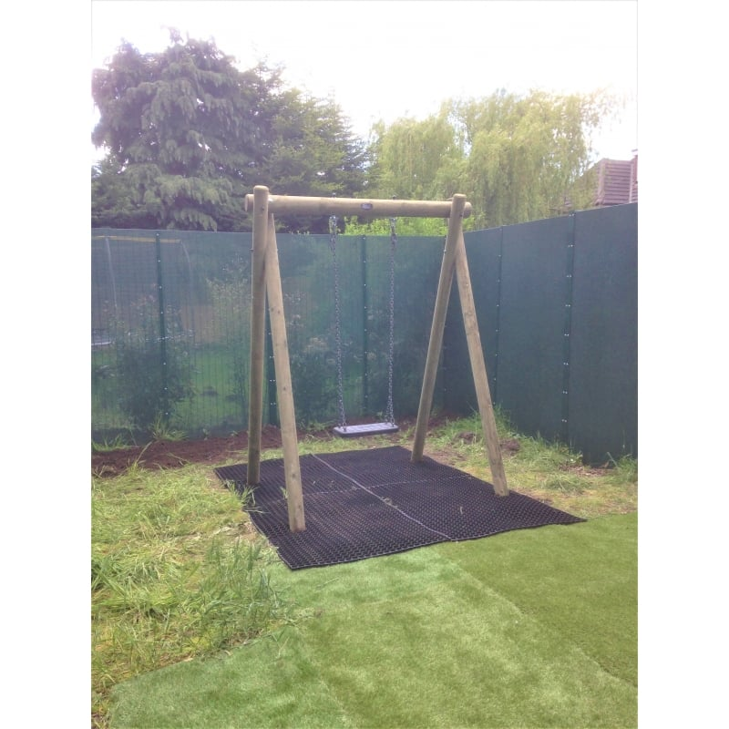 Langley Single Swing Frame with Heavy Duty Rubber Adult Swing Seat ...