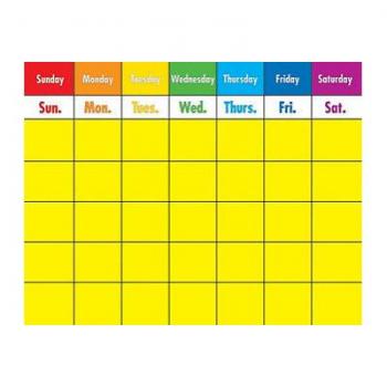 Carson Dellosa Large Laminated Rainbow Calendar* - Write on/wipe off
