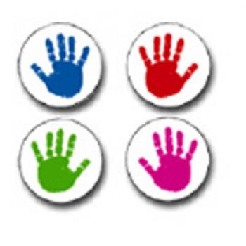 Carson Dellosa Handprint Stickers* - Encourage Positive Behaviour
