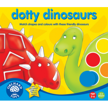 Orchard Toys Dotty Dinosaurs - A shape and colour matching game