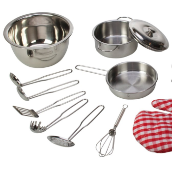 Bigjigs Stainless Steel Kitchenware Set