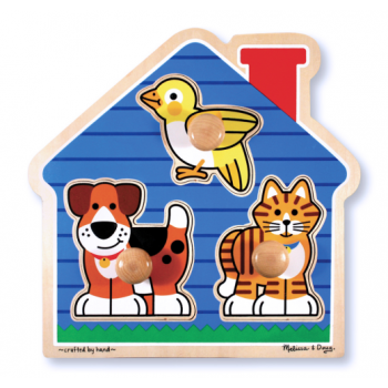 Melissa and Doug House Pets Large Peg Puzzle