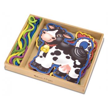 Melissa and Doug Wooden Panels & Laces - Farm Animals*