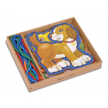 Melissa and Doug Lace and Trace Activity Set Pets - Helps to develop dexterity and co-ordination