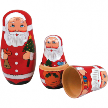 Tobar Father Christmas Matryoshka Nesting Doll