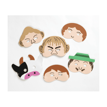 Jack & the Beanstalk Mask Set- Perfect for storytelling and roleplay