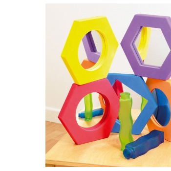 Softie Hexagonal Mirror Sm Pk5