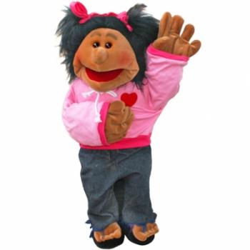 Puppet Company Large Paula (Dark Skin Tone) Living Puppet *- Storytelling puppet