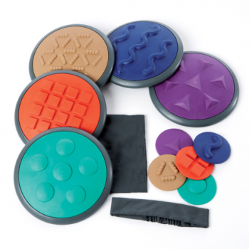 Tactile Discs - Set 2 - 5 Lrg/5 Sml* - tactile, sensory active play toy