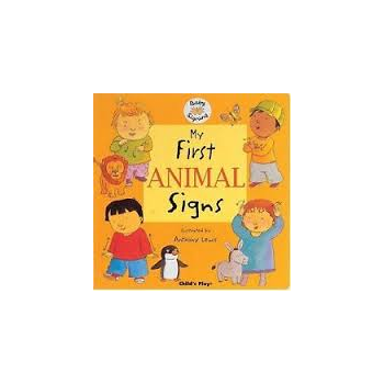 Childs Play My First Animal Signs (Board Book) Childrens signing book