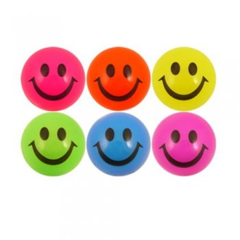 Light Up Smiley Ball 5cm