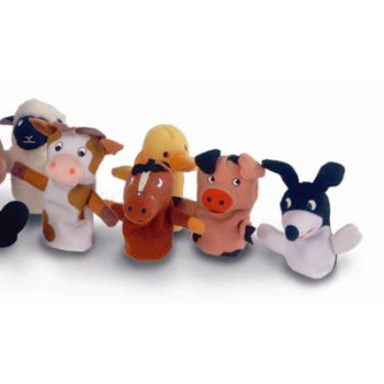 Childs Play Old Macdonald Animal Finger Puppets (Soft Toy)
