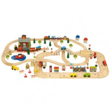 Bigjigs rail City Road & Railway Train Set