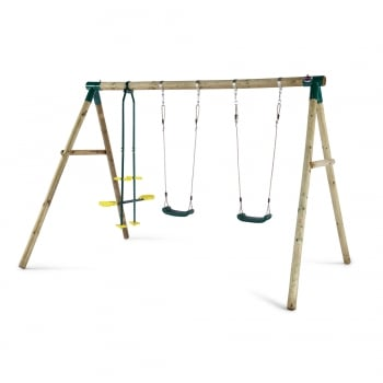 Plum® Colobus Wooden Garden Swing Set**