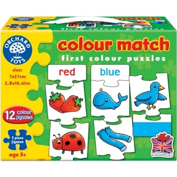 Orchard Toys Colour Match Jigsaw Game 5 Pieces