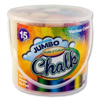 15 Jumbo Sidewalk Chalk - Coloured