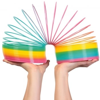 Giant Rainbow Slinky Springy