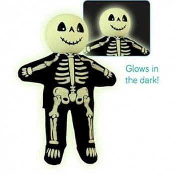 Fiesta Crafts Tellatale Wooden Head Finger Puppet Skeleton glow in the dark