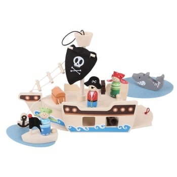 Bigjigs Pirate Ship Mini Playset