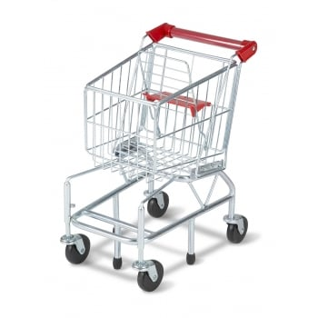Melissa and Doug Metal Shopping Trolley Childrens Pretend Play Toy