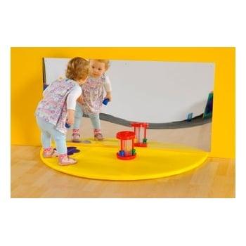 Plain Semi Circle Mat with Rectangular Mirror Set*