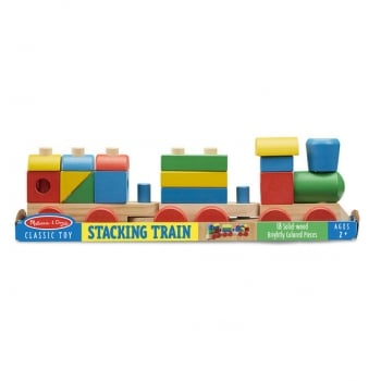 Melissa and Doug Stacking Train Wooden Toy - Classic Childrens Toy