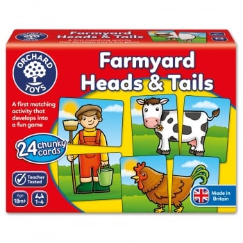 Orchard Toys Farmyard Heads & Tails Mini Game