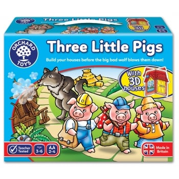 Orchard Toys Three Little Pigs Game - Number Recognition and Counting