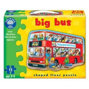 Orchard Toys Big Bus - 15 Piece Floor Jigsaw Puzzle