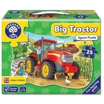 Orchard Toys Big Tractor - 25 Piece Shaped Floor Jigsaw Puzzle