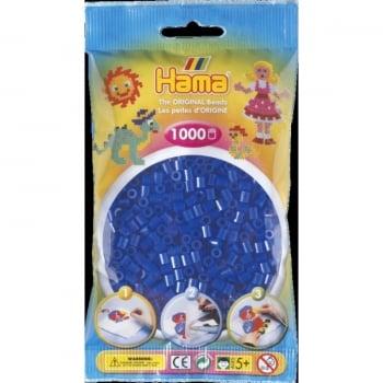 Midi Hama Beads - 1000 Beads in Bag, Neon Blue