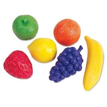 Learning Resources Fruity Fun Counters, Set of 108 - Counting with an activity guide