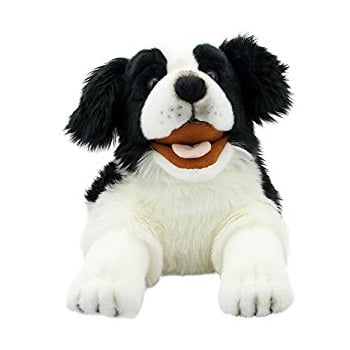 Small Border Collie Hand Puppet