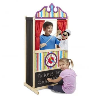 Melissa and Doug Puppet Time Theatre - Wooden imaginative Play Toy