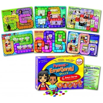 Smart Kids 6 Personal & Emotional Skills Board Games