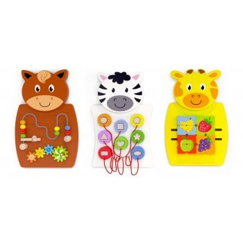 Animal Activity Wall Panel Toy Set of 3*