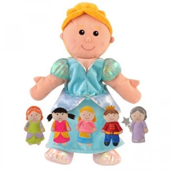 Cinderella Hand Puppet With Finger Puppets