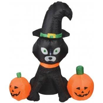 Inflatable 4ft Cat & Pumpkins