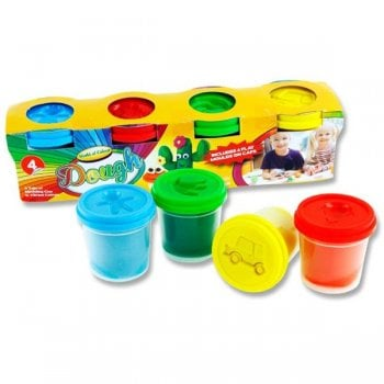 Play Doh Pots With Moulding Lid - Pack of 4