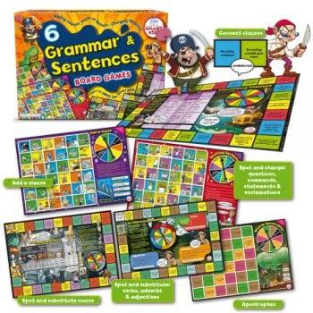 Smart Kids 6 Grammar & Sentences Board games