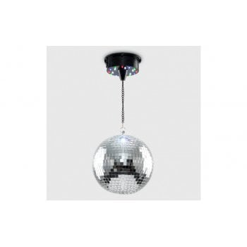 8 Inch Rotating Disco Mirror Ball Ceiling Light with LEDs - Sound Responsive*