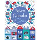 Christmas Advent Calendar to Colour book