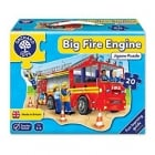 Big Fire Engine - 20 Piece Shaped Floor Jigsaw Puzzle