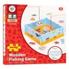 Magnetic Wooden Fishing Game with Base