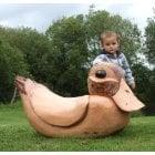 Giant Wooden Rocking Duck*